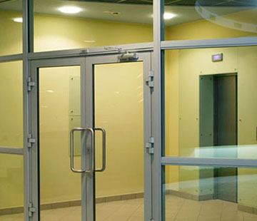 Автоматические раздвижные алюминиевые двери цена